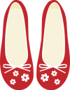 red ladies' shoes